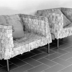 (English) Poltrone in vetroresina anni '70 del bed and breakfast eridu a fiesole vicino firenze  handmade sofa realized with used cork of italian wine at the bb eridu in fiesole tuscany