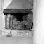 dettaglio del retauro del camino nella cucina del bed and breakfast eridu in toscana