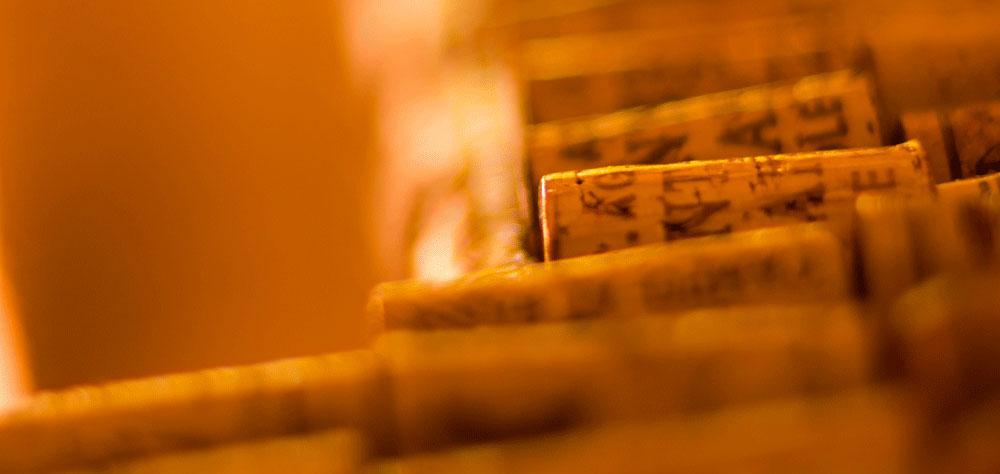Un dettaglio dei tappi di sughero