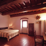 Room panoramic view with typical tuscany artisanal furniture