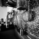 Mosaico cucina di una villa a Fiesole in toscana
